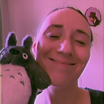 Emily with her little Totoro