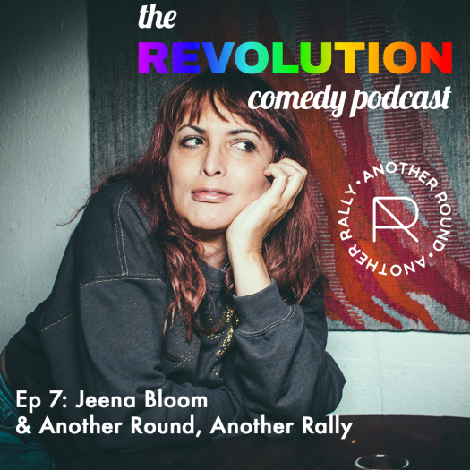 episode card featuring a photo of Jeena Bloom and Another Round Another Rally logo